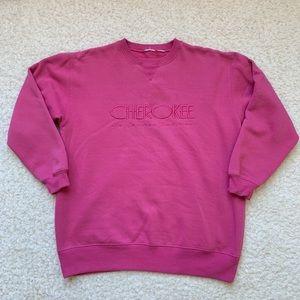 Vintage Cherokee Crewneck Sweatshirt Pink Small